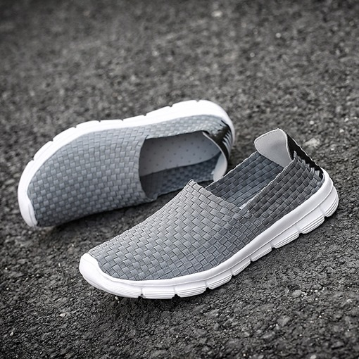 Woven Light Breathe Slip-On Summer Men's Shoes