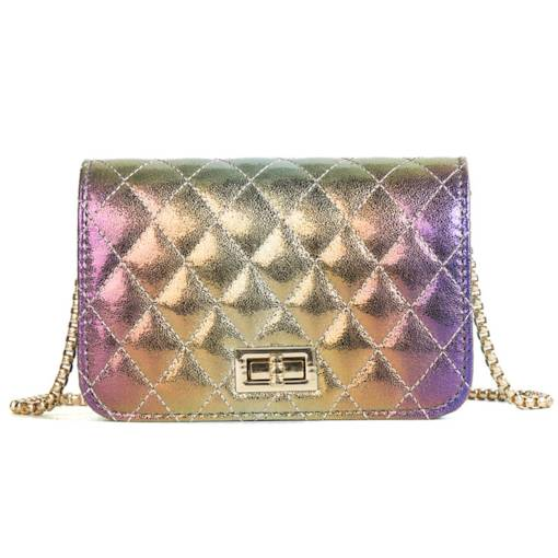 Casual Patchwork Quilted Lining Women Crossbody Bag