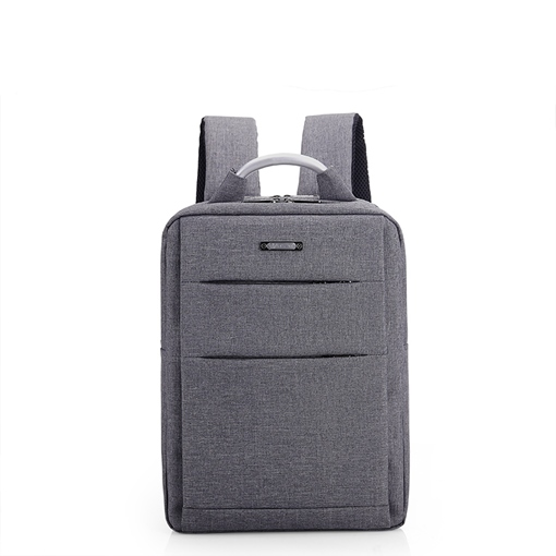 Plain Huge Space Zipper Unisex Backpack