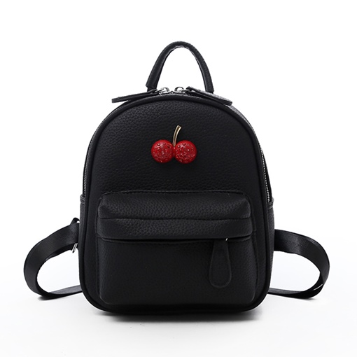 Fresh Fruit PU Zipper Backpack