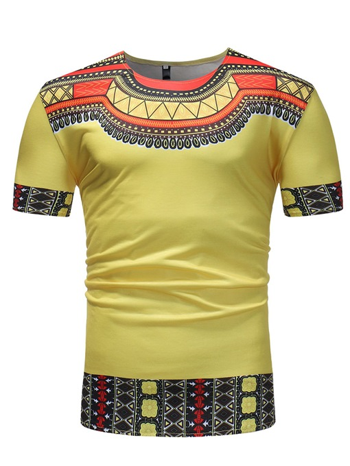 African Ethnic Dashiki Style Slim Men's T-Shirt