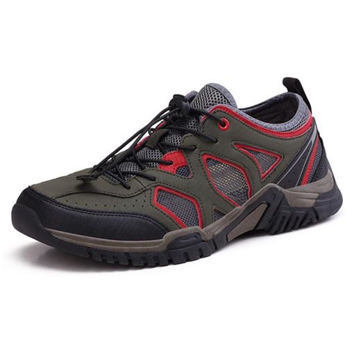 Elastic Band Mesh Patchwork Casual Hiking Shoes for Men