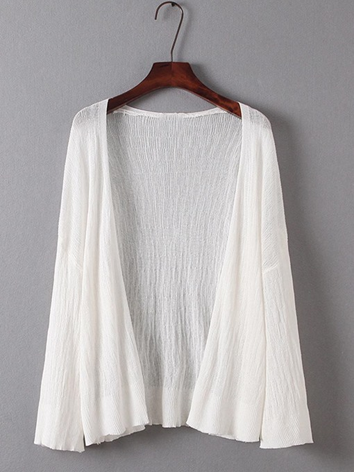 Loose Open Front Solid Color Thin Women's Knitwear