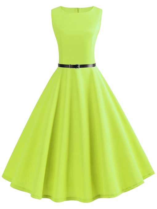 Kelly Sleeveless High Waist A Line Day Dress