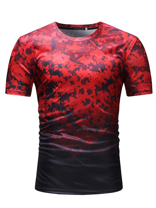 Gradient Camouflage Thin Men's T-Shirt