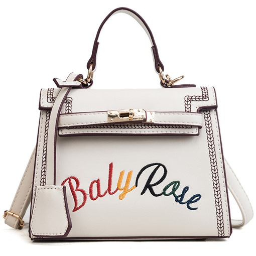 Modern Style Rainbow Letter Women Tote Bag