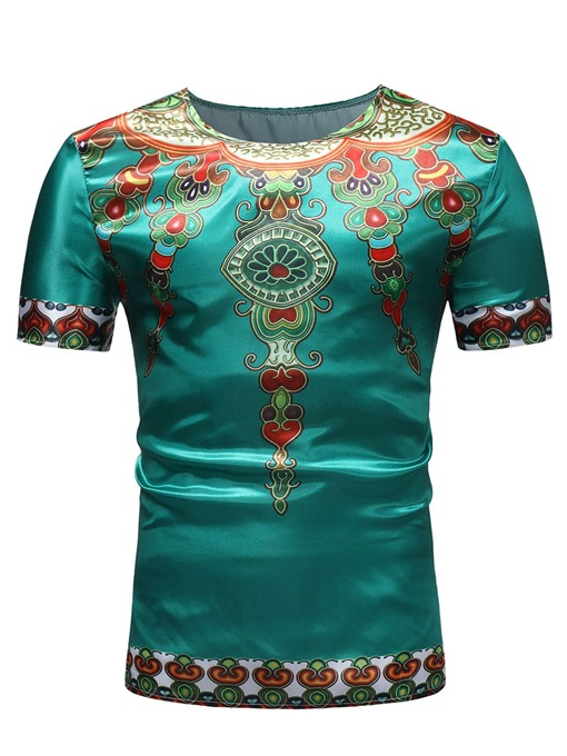 Ethnic African Dashiki Style Men's T-Shirt