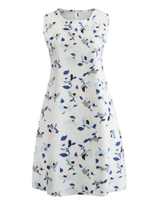 White Floral Women's Day Dress