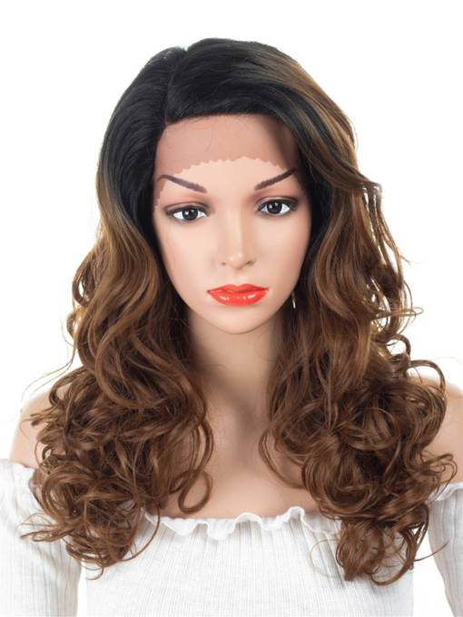Curly Synthetic Hair Synthetic Hair Lace Front Cap Wig