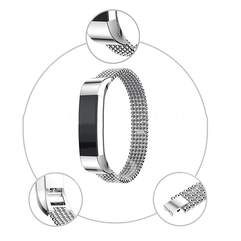 Smart Bracelet Band Solid Stainless Steel Strap for Fitbit Alta