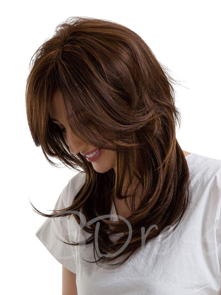 Long Wavy Cut Human Hair Capless Women Wig