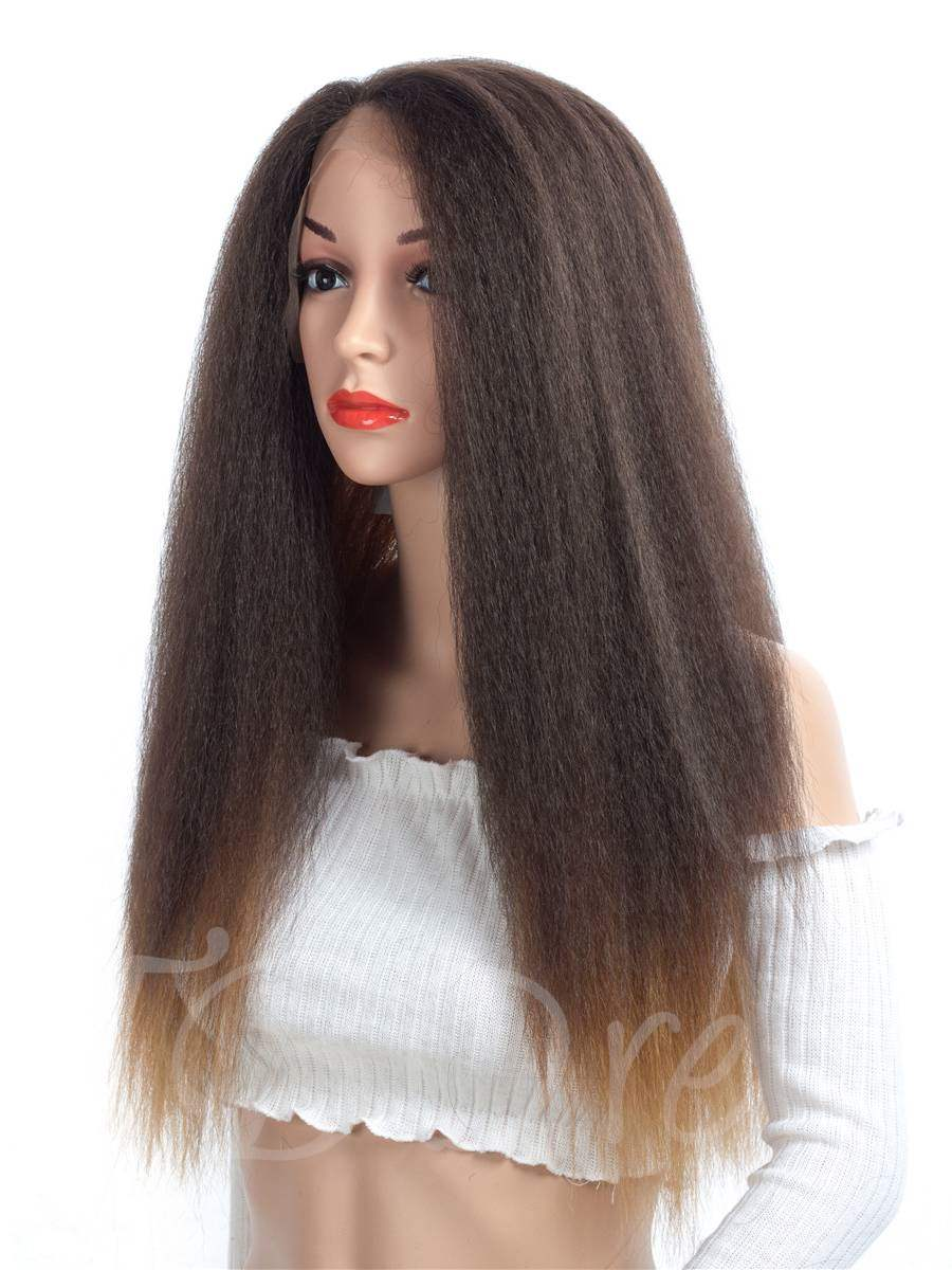 Yaki Straight Synthetic Hair Lace Front Women Wig