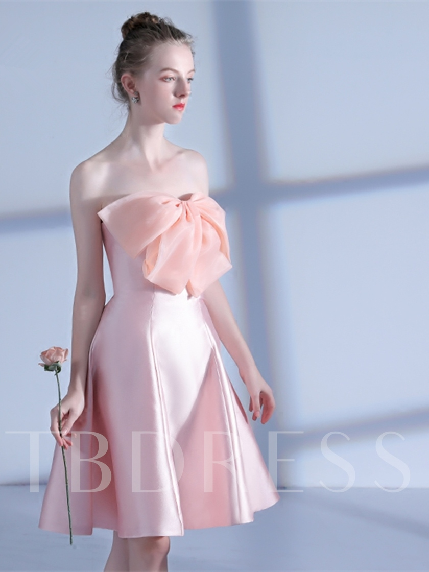 A-Line Bowknot Sweetheart Homecoming Dress