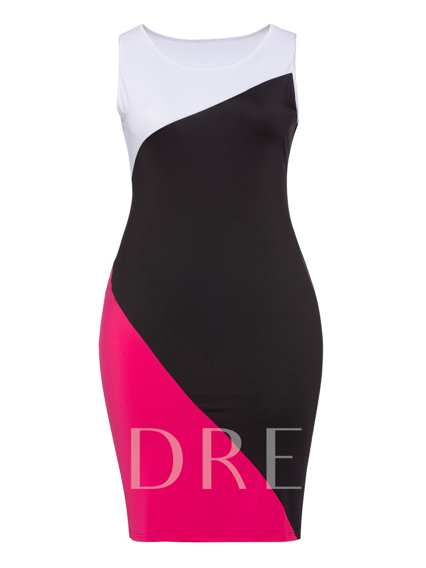 Sleeveless Plus Size Women's Bodycon Dress
