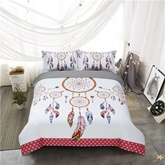 Dream Catcher and Chic Feathers Ornaments 4-Piece Polyester Bedding Sets/Duvet Cover