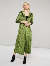 Hooded Straight Long Length Solid Color Women's Overcoat