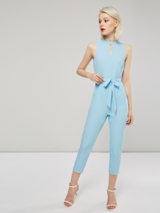 High Waist Hollow Lace-Up Women's Jumpsuit