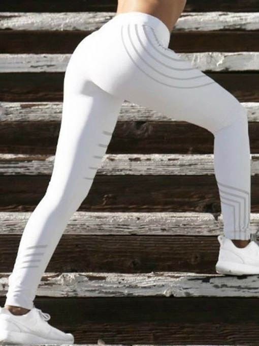 Streamlined Strip Breathable Anti-Sweat Yoga Leggings