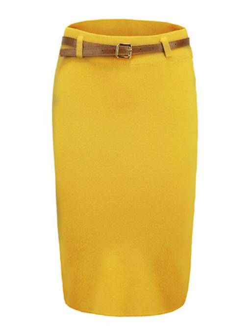 Straight Back Split Women's Package Skirt