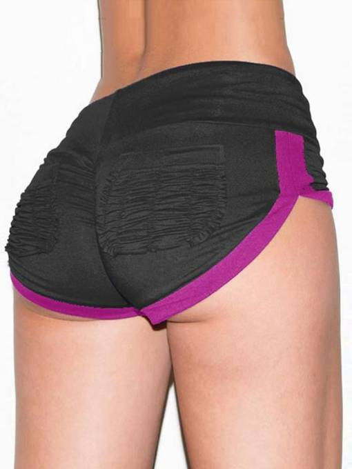 Color Block Pockets Women's Yoga shorts