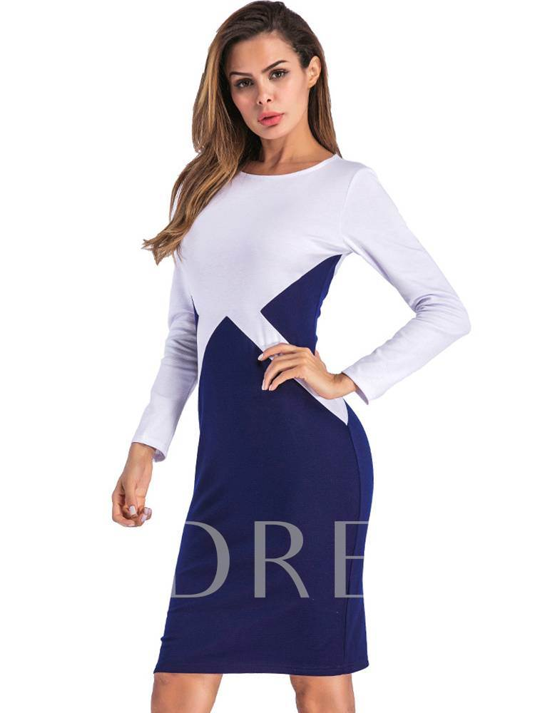 Office Lady Long Sleeves Women's Bodycon Dress
