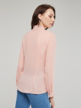 Ruffle Single-Breasted Long Sleeve Women's Shirt