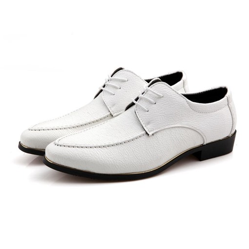 Lace-Up Round Toe Block Heel Elegant Professional Men's Oxford