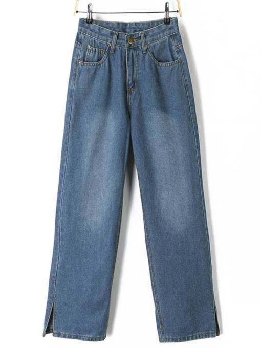 Full Length Wide Legs High Waist Women's Jeans