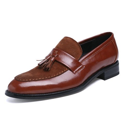 Slip-On Fringe Round Toe Casual Elegant Business Men's Oxford
