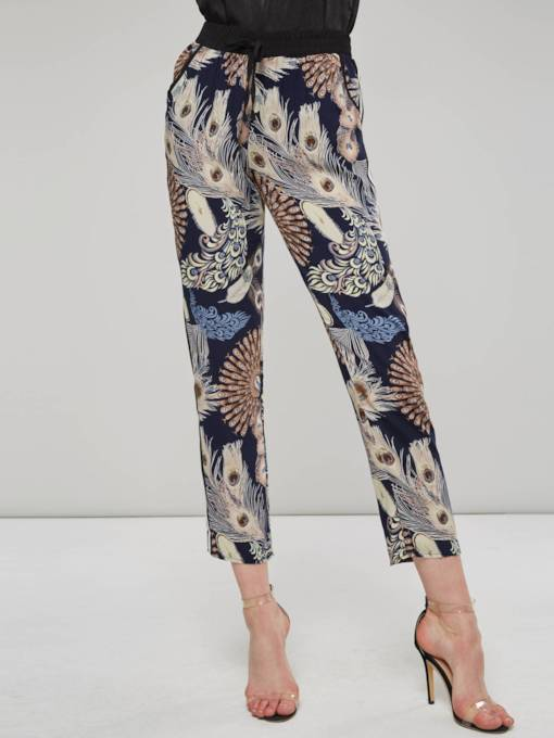 Floral Print Loose Women's Casual Pants