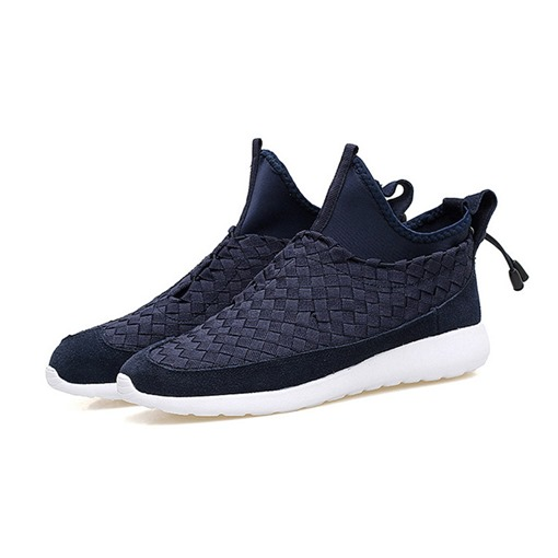 Round Toe Elastic Band Casual Mid-Cut Men's Sneakers