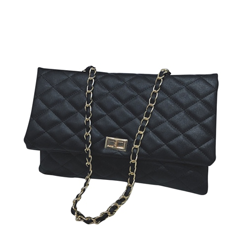 Quilted Lining Rectangle Soft Women Crossbody Bag