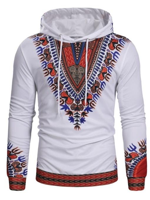 Loose Pullover Dashiki Geometric Print Men's Hoodie