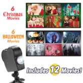 Halloween & Christmas Projector Lights, Laser Outdoor Projection Lamp 12 Different Modes Holiday Lights