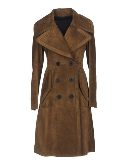 Elegant Double-Breasted Notched Lapel Women's Overcoat