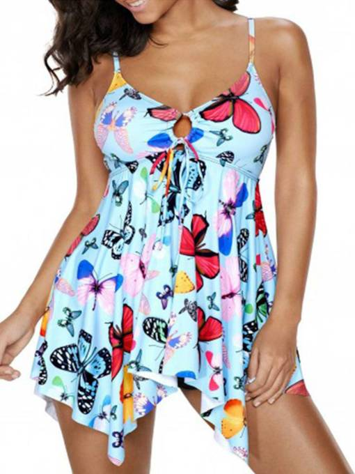 Print Hollow Fashion One-Piece Swimsuits