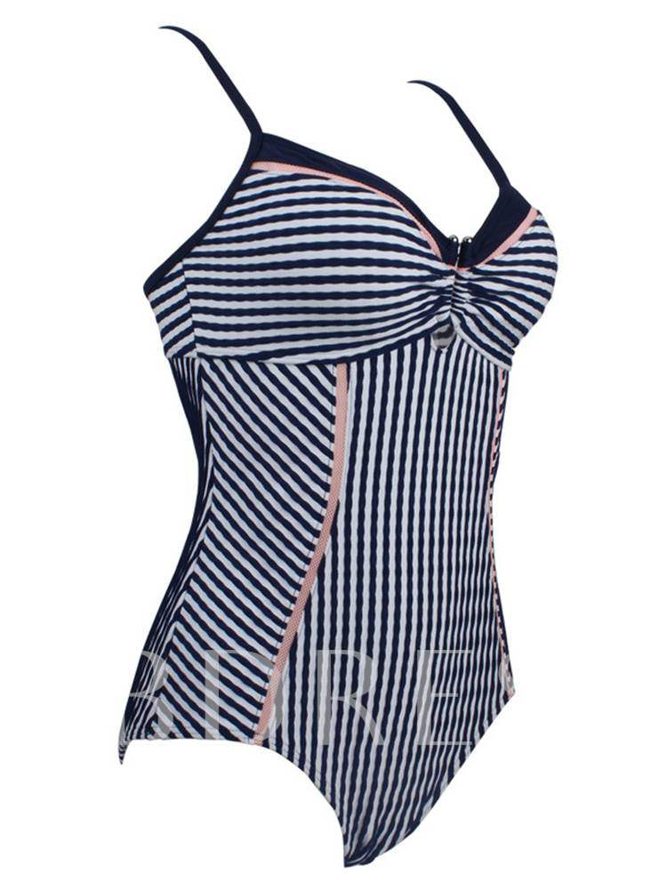 Stripe Backless Sexy One-Piece Swimsuits
