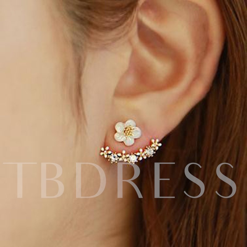 Floral Shape E-Plating Party Stud Earrings