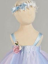 Straps Flowers Multi-Color Baby Girl's Christening Gown