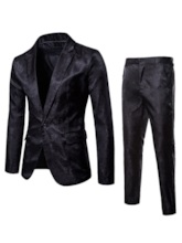 Dark grain One Button Men's Dress Suit