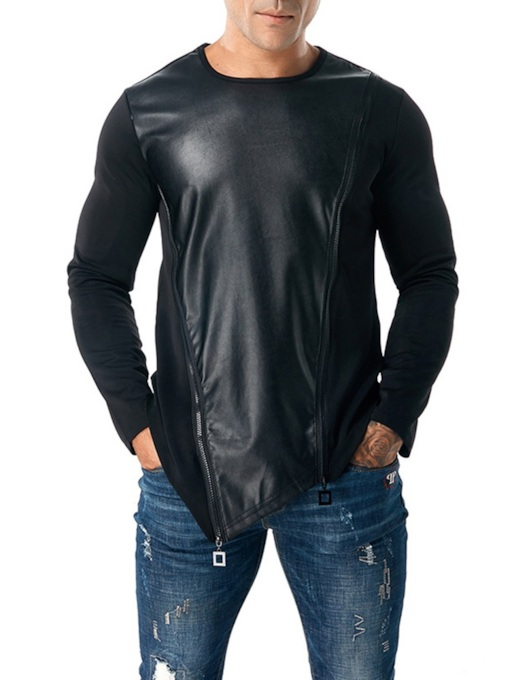 Slim Zipper Patchwork Men's Hoodie