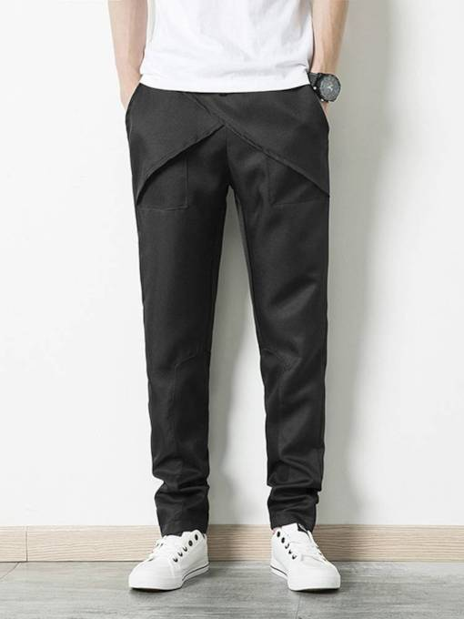 Loose Packwork Plain Men's Pencil Pant
