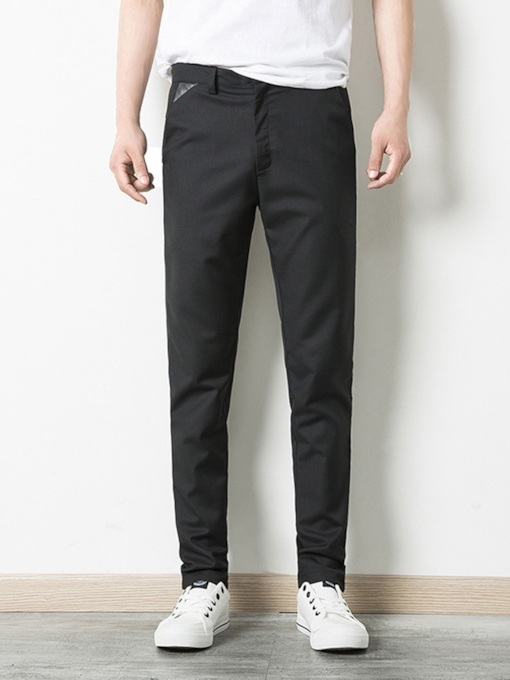 Slim Plain Men's Pencil Pants