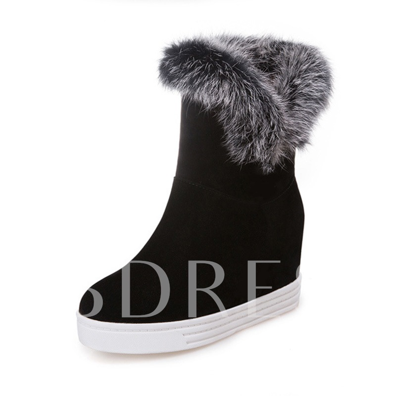 Buy Suede Round Toe Slip-On Platform Casual Snow Boots, Fall,Winter, 13424651 for $48.82 in TBDress store