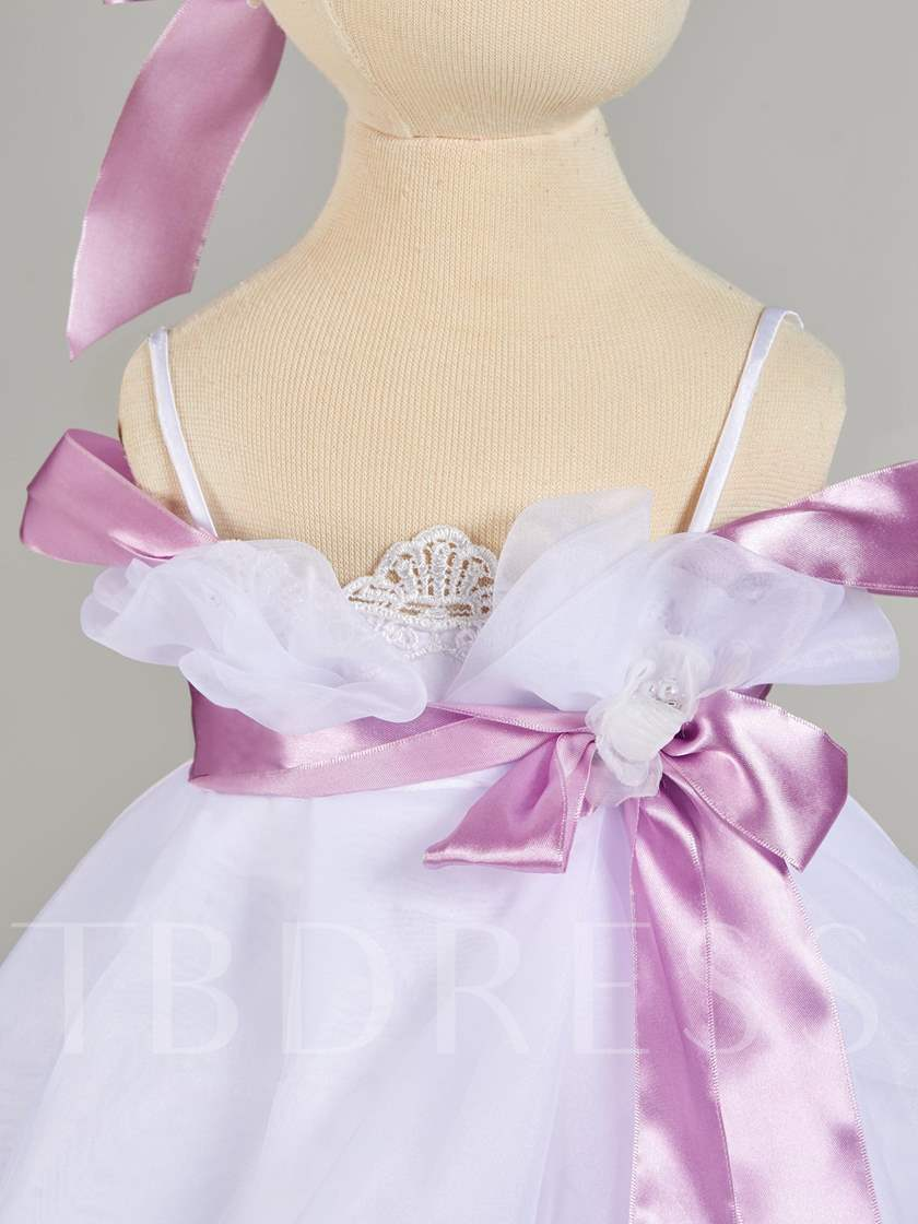 Spaghetti Straps Sashes Baby Girl's Christening Gown