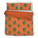 Avocado Skateboarding Hand-painted 4-Piece Polyester Bedding Sets/Duvet Cover
