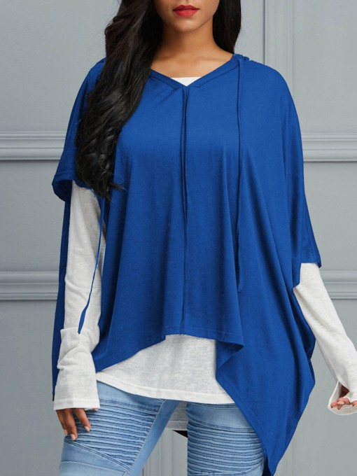 Loose Mid-Length Hooded Women's T-Shirt