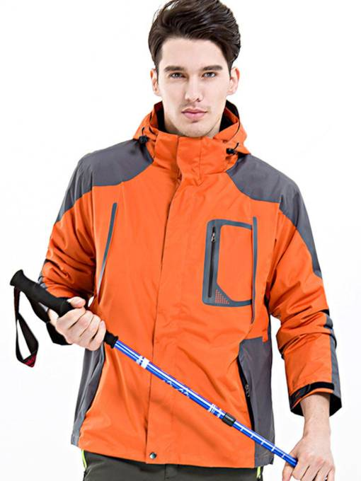 Windproof Thermal Hiking Climbing Men's Plus Size Outdoor Jacket