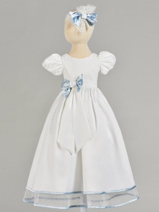 Bowknot Lace Christening Gown for Girl Babies