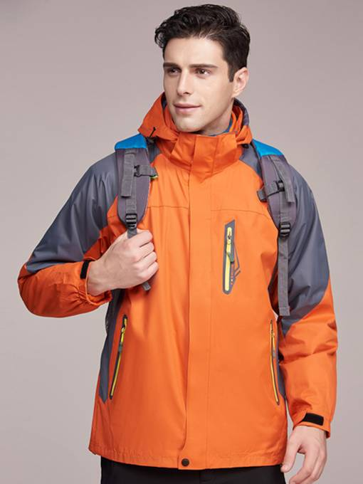 Windproof Waterproof Two-Piece Men's Outdoor Jacket (Plus Size Available)